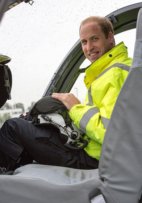 Prince William said he was 'feeling the nerves' as he started his new job.