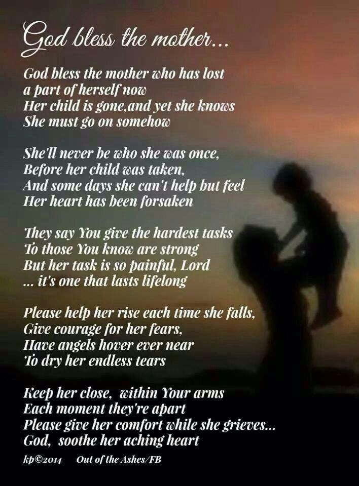 wisdom for mother that lost her son - Google Search