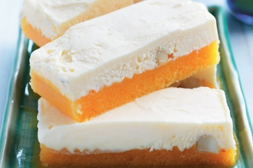 Summer's in full swing, so slide over to the freezer for a frosty treat of peach macadamia ice-cream bars.