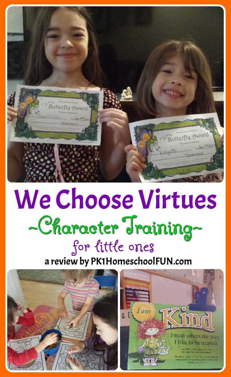 We Choose Virtues Character Training For Little Ones – Review – PK1HomeschoolFUN