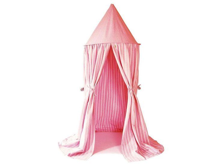Great Wingreen Zimmerzelt Baldachin rosa StreifenArt Nr HANRO Material Baumwolle seitlich mit je einem Fenster versehenMa e Meter hoch un