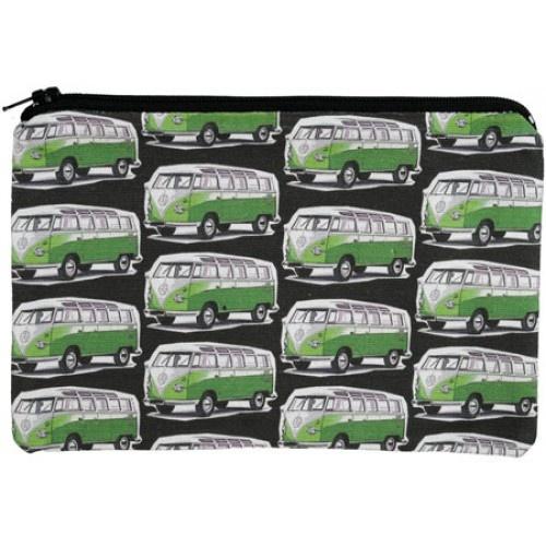 Green Kombi Vans Design Pencil Case from Sarah J Home Decor. $14.95