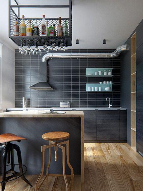 Amazing modern industrial apartment by Int 2 Architects // Increíble departamento vintage industrial moderno // Casa Haus                                                                                                                                                                                 Más