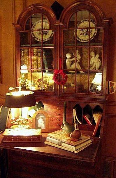 Beautiful English Secretary Desk