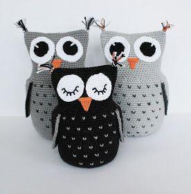 Like these owls shame pattern isn't in English Skapa och Inreda: Mönster på virkad uggla