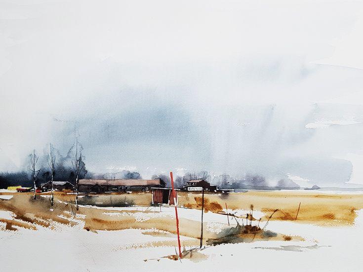 Elisabeth Biström watercolor 2018. #akvarell #watercolour