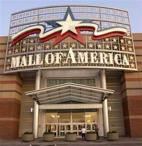 "Mall of America - Minneapolis, Minnesota - once largest mall - built on old ""Vikings"" Met Stadium grounds."