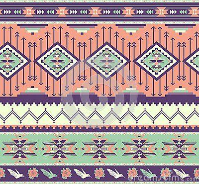 Naadloos kleurrijk Azteeks patroon