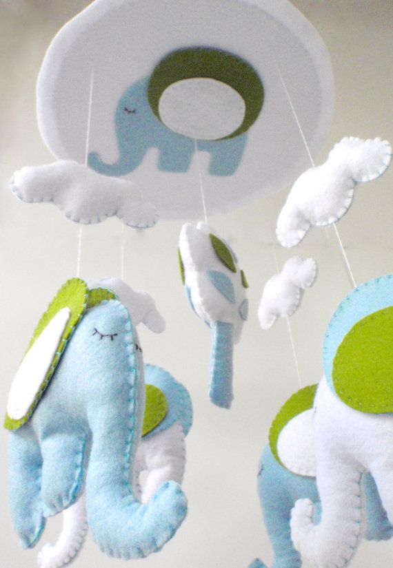 Baby Crib Mobile  Baby Mobile  Nursery Crib by LaPetiteMelina, $75.00