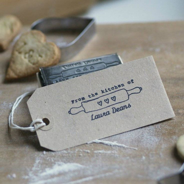 Personalised 'From The Kitchen Of' Stamp from notonthehighstreet.com