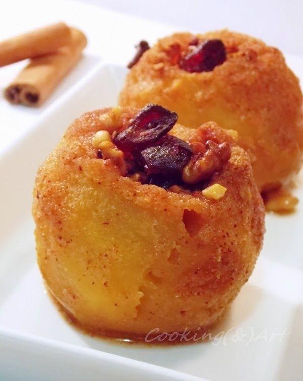 Μαγειρική(&)Τέχνη!: Ψητά μήλα στο φούρνο με καρύδια & cranberries / Baked apples filled with nuts & cranberries!