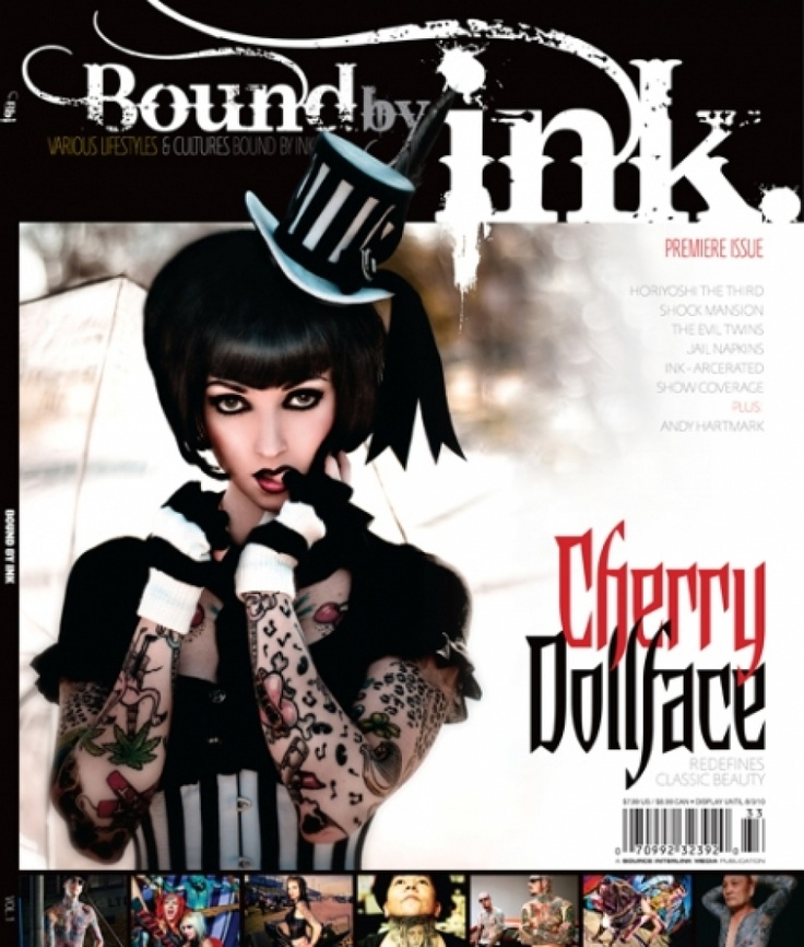 Bound by Ink magazine Cherry Dollface. I have this cover signed and personalized to hubby and I for our wedding with a sweet lip print <3