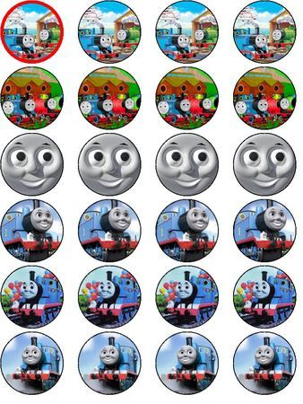 THOMAS THE TANK ENGINE 24 EDIBLE RICE CAKE TOPPERS