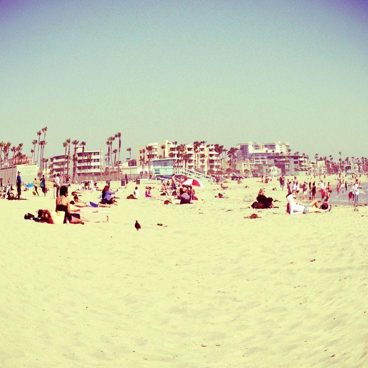 The beach. Santa Monica, California. April, 2013.