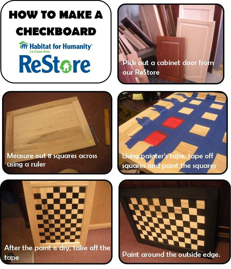 Love The Checkerboard Idea Cabinet Door Crafts