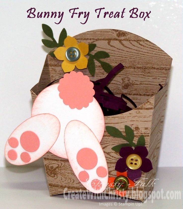 Create With Christy: Easter Bunny Fry Treat Box
