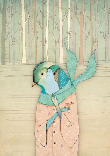 Belén SegarraDecember, Belénsegarra, Blue, Behance, Birds Of Paradis, Belen Segarra, Backgrounds, Belén Segarra, Art Illustration