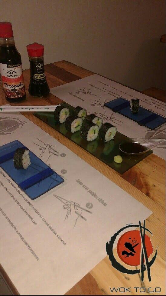 Sushi de palmitos