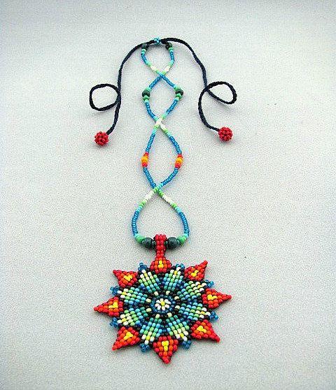Flor de collar semillas cuentas Mandala por HANWImedicineArt