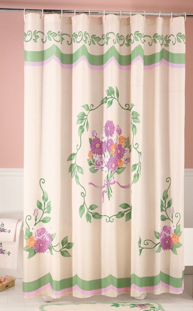 Mural Of Classic And Lovable Victorian Shower Curtains