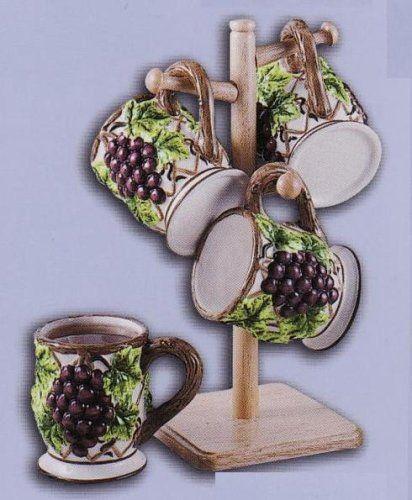 GRAPE 3 D Mug Set Of Mugs · Kitchen ThemesKitchen DecorKitchen ...