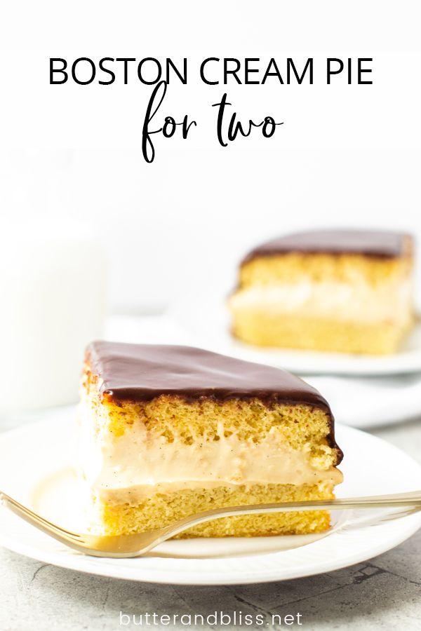 Mini Boston Cream Pie Recipe