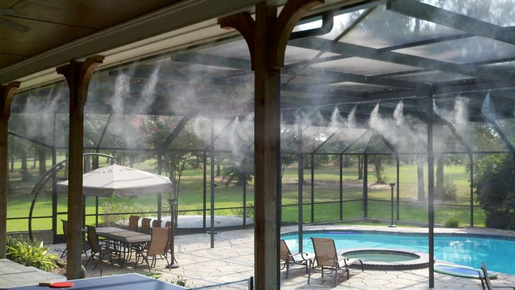 Water Mist Cooling Systems : Images about patio misters on pinterest bottle
