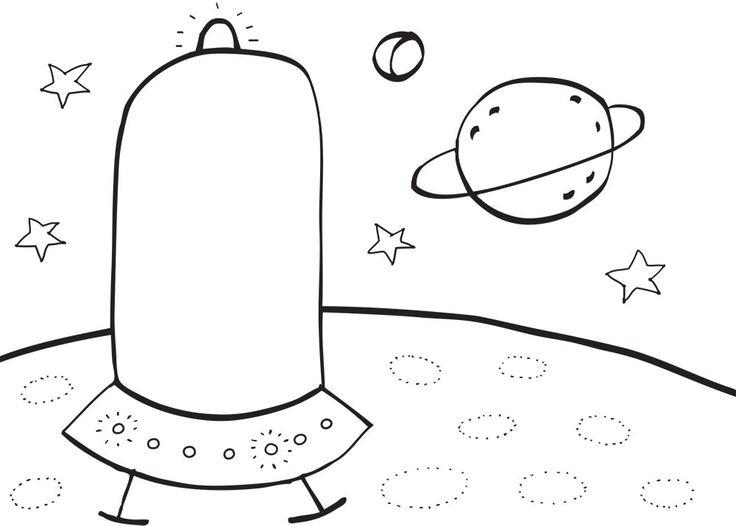 colouring free printables - space by pipasik