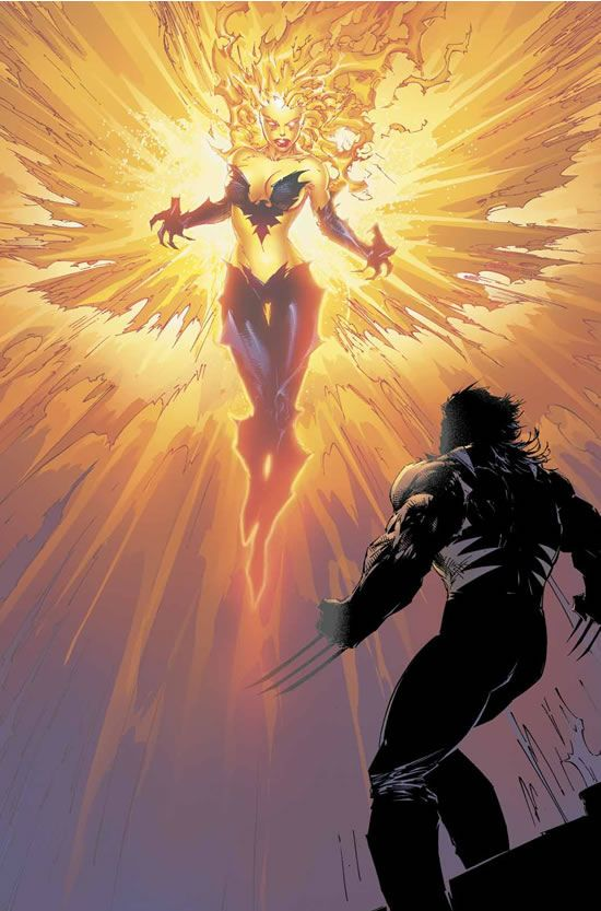 Wolverine and Phoenix//Marc Silvestri/S/ Comic Art Community GALLERY OF COMIC ART