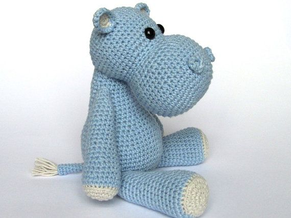 Little Hippo Timi- Amigurumi Crochet Pattern / PDF e-Book ...