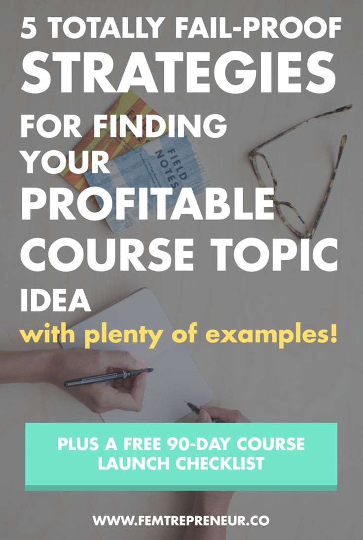 Think you just don't have what it takes to come up with a great course idea? Think again. I'm walking you through 5 totally fail-proof strategies to find your profitable course topic idea! >>