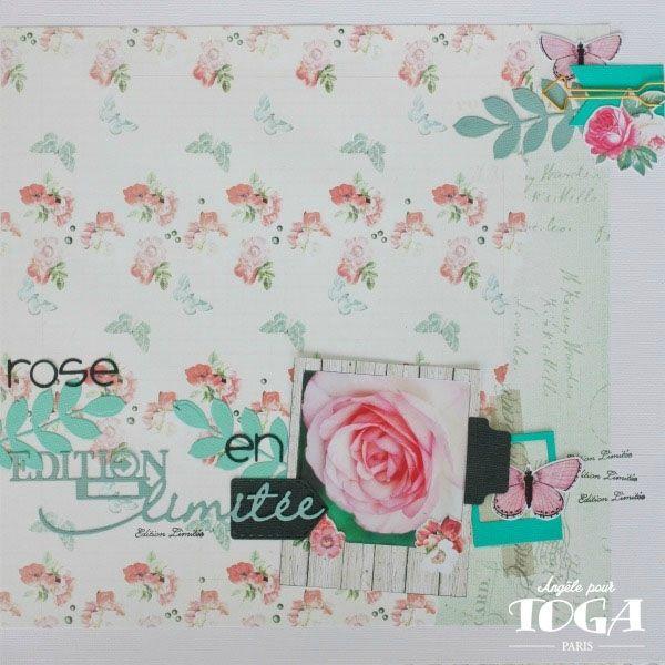 Une superbe page en Shabby Love (collection à retrouver sur www.boitacreer.com) par la DT de Toga