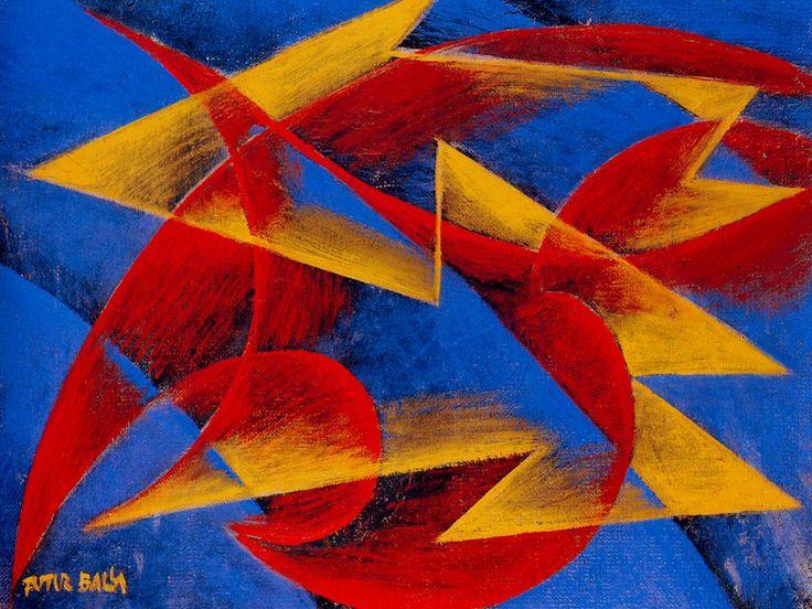 Giacomo Balla - Line of speed, 1913, oil on canvas
