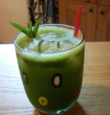 Lemon and Mint drink- perfect for summer!  From another great Syrian food blogger