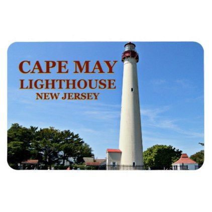Cape May Lighthouse New Jersey Flexi Magnet - home gifts ideas decor special unique custom individual customized individualized