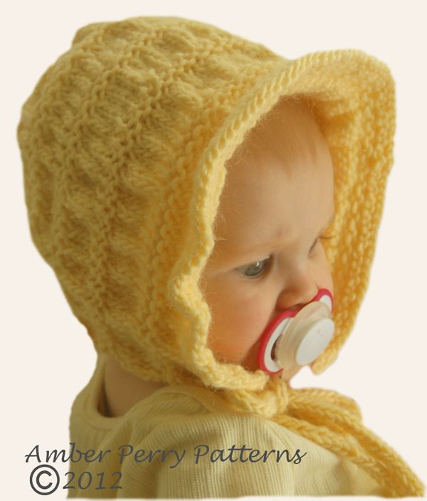 FREE #knitting PATTERN ~ bonnet Knits up quick & cute! TO FIND PATTERN Go to: http://www.ravelry.com/patterns/library/heidi-bonnet-2