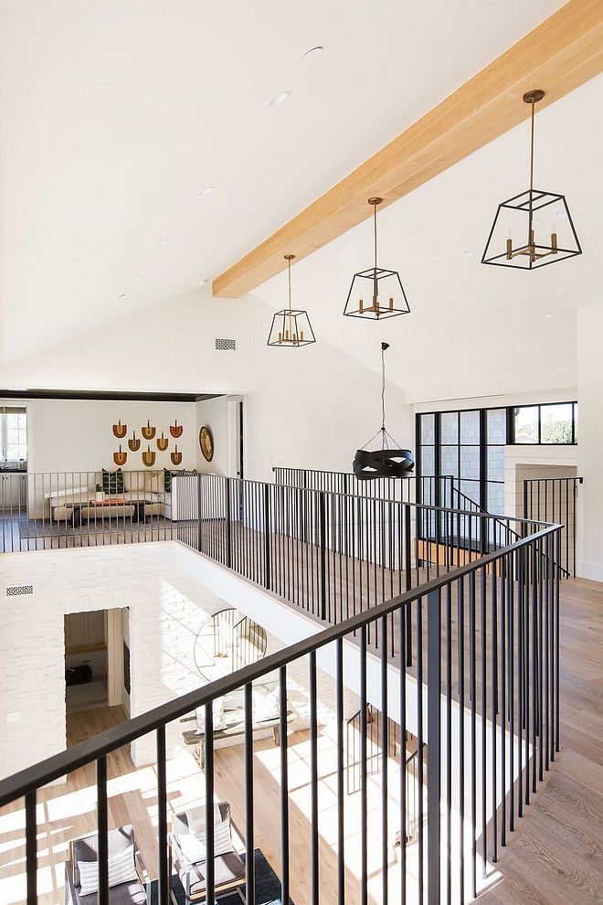 Modern Farmhouse Wrought Iron Railing Spindles Simple Sleek