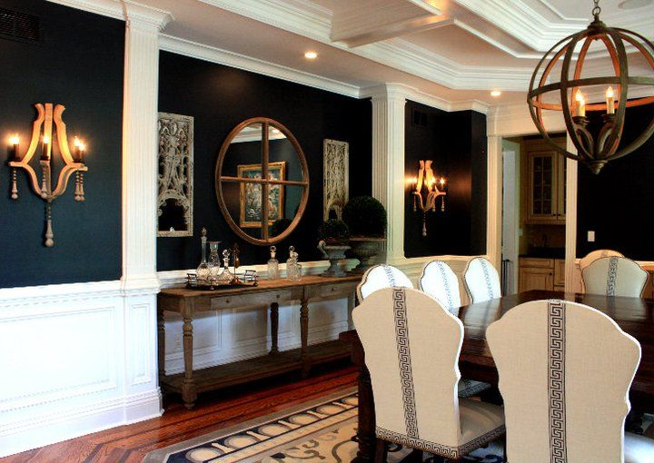 1000+ Ideas About Navy Dining Rooms On Pinterest
