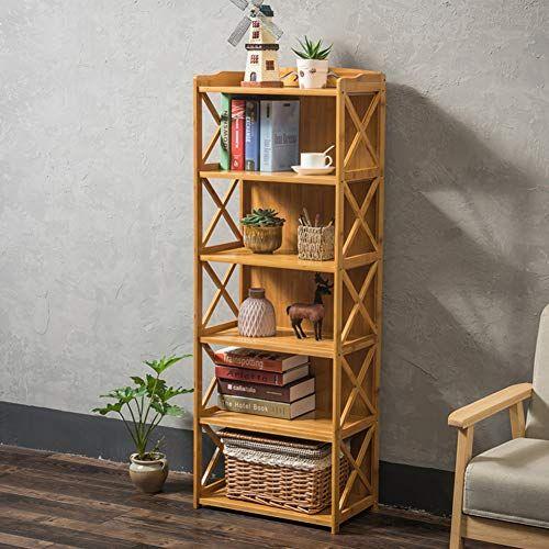 Kele Multi Function Bamboo Bookshelf Simple Flower Stand Solid