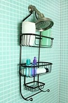 Industrial Wire Shower Caddy  #UrbanOutfitters