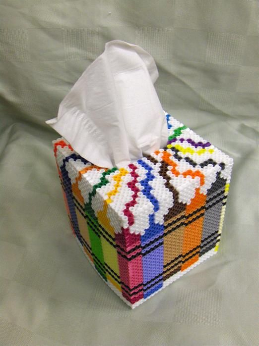 Tissue box pencils design perler beads by Gisele K.