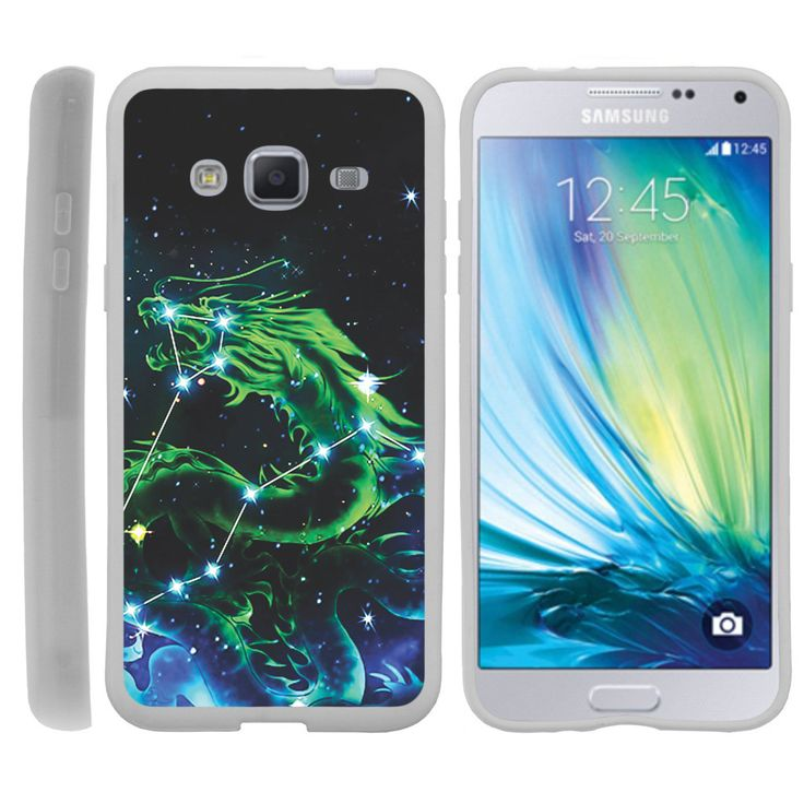 Galaxy J3, J310, Amp Prime FLEX FORCE Flexible Slim Fit Case - Dragon Stars