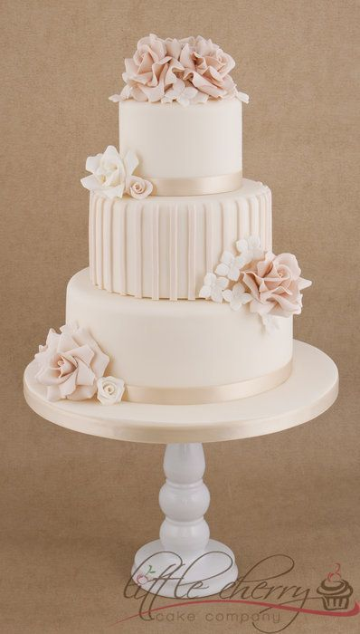 wedding cake in pink. check out weddinspire.com for more #wedding cake images