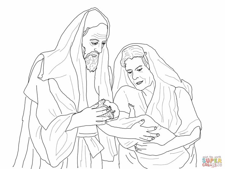 Abraham Sarah And Their Newborn Son Isaac Coloring Page From Category Select 27007 Printable Crafts Of Cartoons Nature Animals Bible