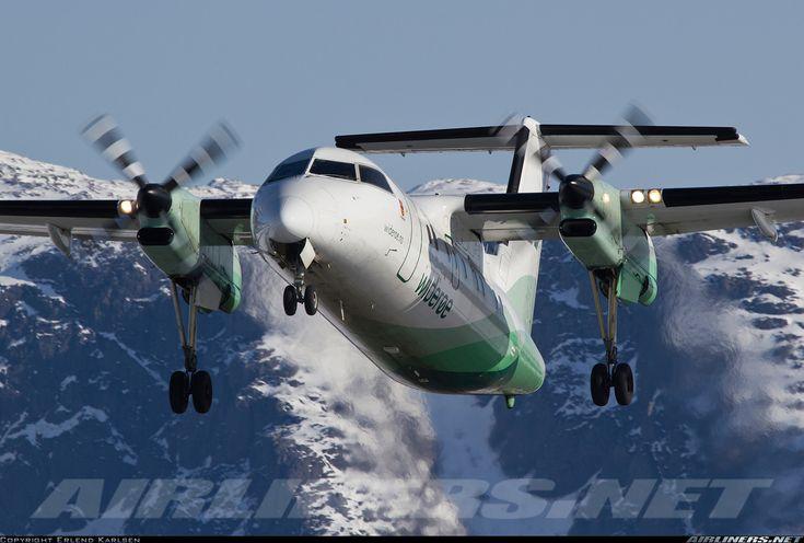 Wideroe De Havilland Canada DHC-8-103 Dash 8  Bronnoysund - Bronnoy (BNN/ENBN) Norway, April 11, 2013