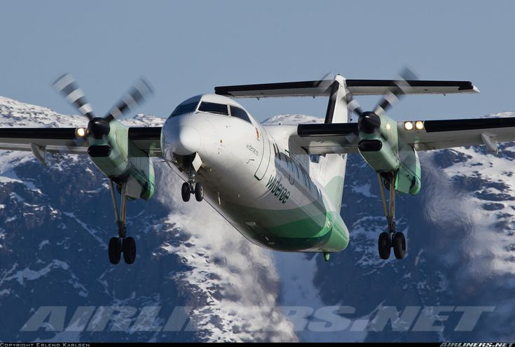 Wideroe De Havilland Canada DHC-8-103 Dash 8 	 Bronnoysund - Bronnoy (BNN/ENBN) Norway, April 11, 2013
