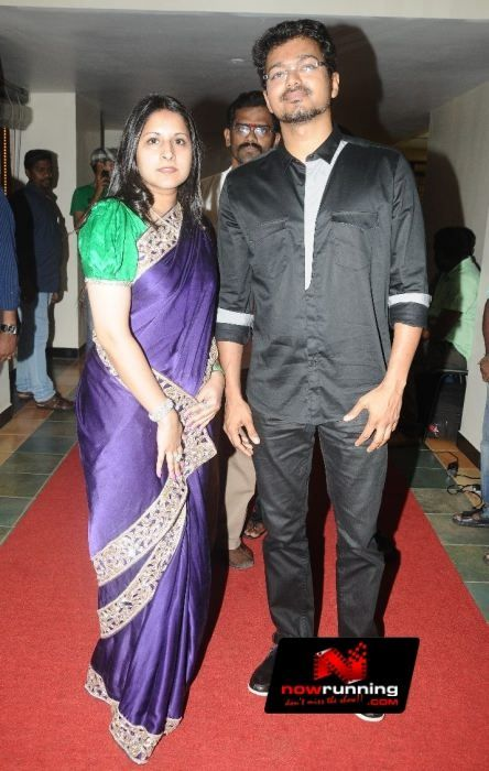 Vijay & Sangeetha at  G.V. Prakash Kumar and Saindhavi Wedding Reception