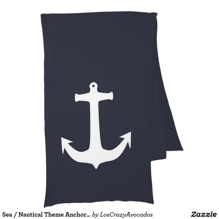 Sea / Nautical Theme Anchor Jersey Scarf