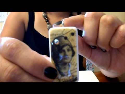 How to Make Domino Earrings Using Image Transfers and Aanraku Bails - YouTube
