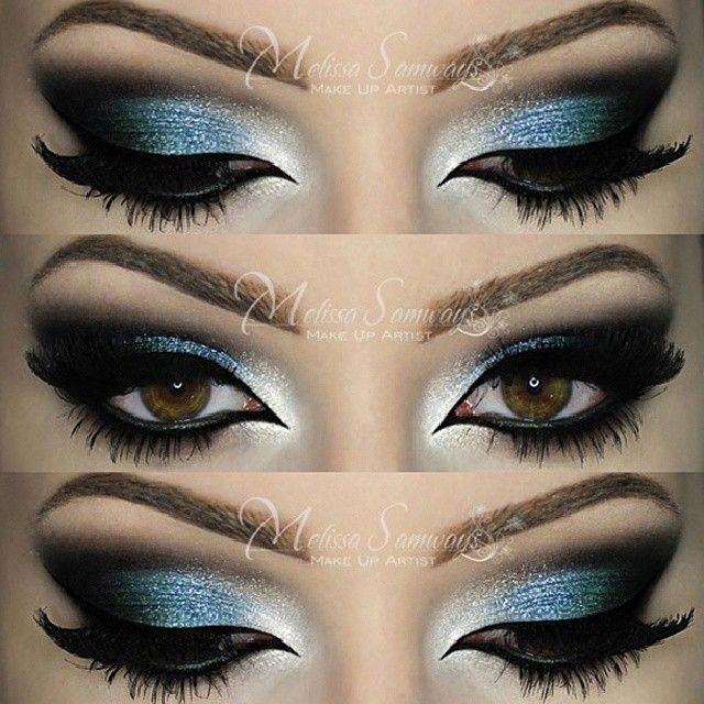.@makeupbymels | Make Up Azul e Verde - Sobrancelhas - DIPBROW POMADA (cor Blond) da @Jay Burberry... | Webstagram